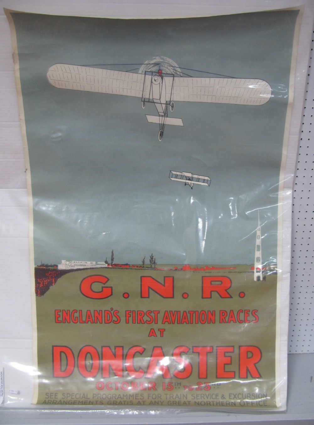 Lot 3 - A Re-Issue Poster of The First Aviation Races At Doncaster.