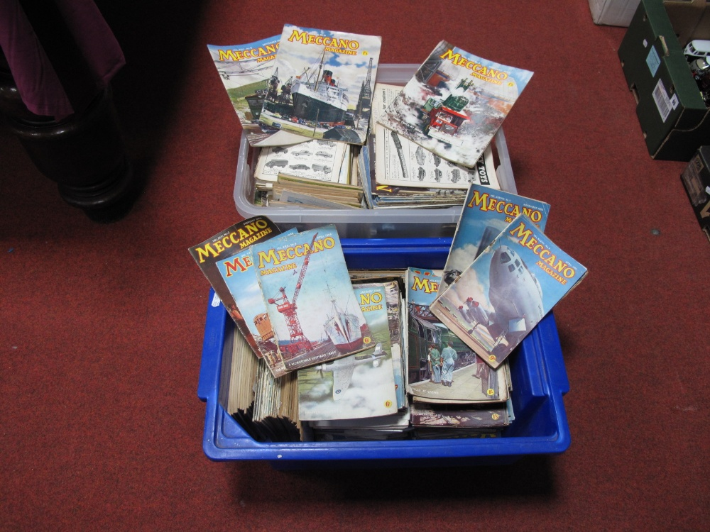 Lot 56 - A Large Quantity of Mainly 1940's and 1950's Meccano Magazines.