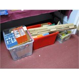Contents of a Railway Modelers Workshop, including lineside accessories, spare parts, tools,