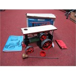 A Boxed Mamod Live Steam TEIA Model Traction Engine, Green / Black Body Work, cream roof, burner,