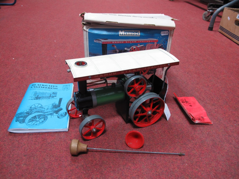 Lot 14A - A Boxed Mamod Live Steam TEIA Model Traction Engine, Green / Black Body Work, cream roof, burner,