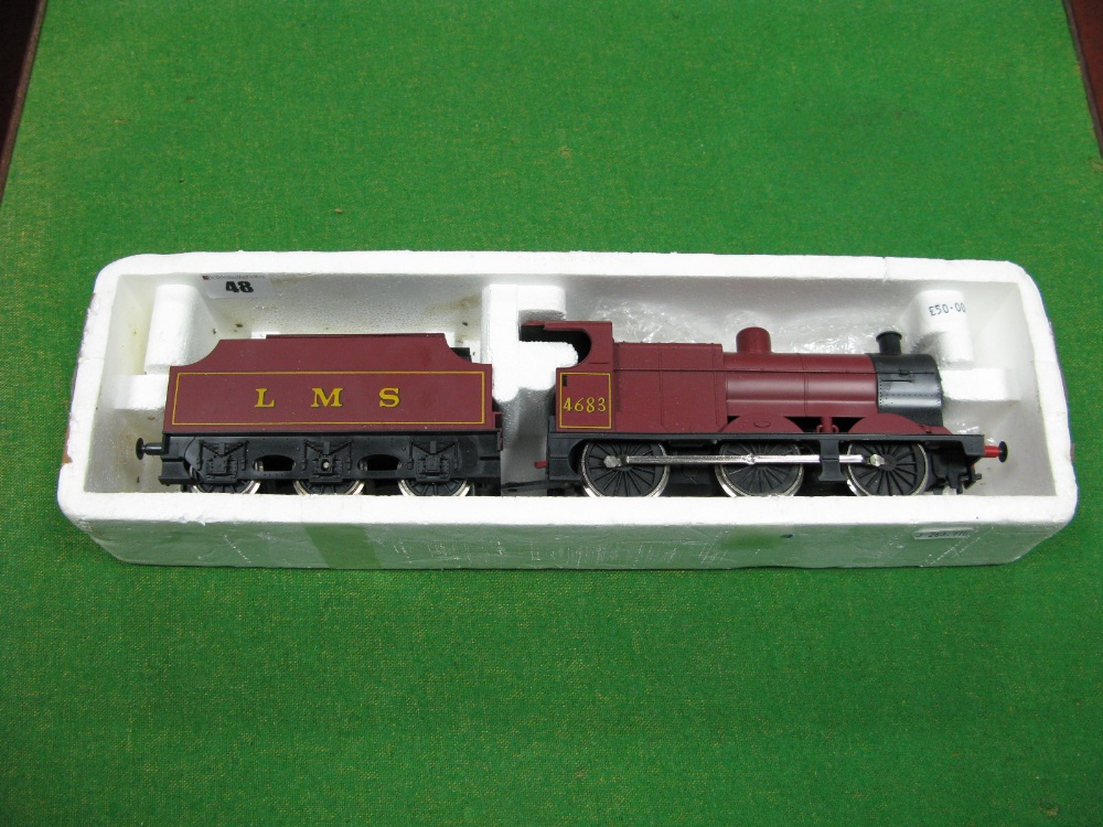 """Lot 48 - A Lima """"0"""" Gauge Class 4F 0-6-0 Locomotive And Tender, R/No 4683, L.M.S maroon."""