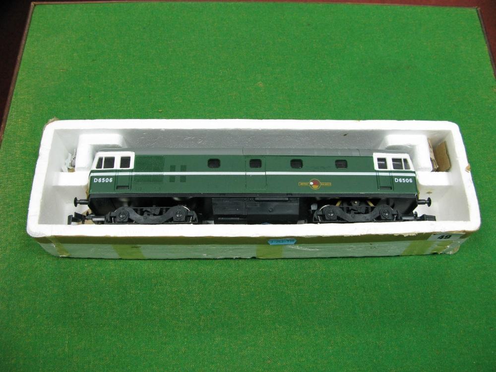 "Lot 49 - A Lima ""O"" Gauge Diesel Locomotive, ""Bo-Bo"", R/No d6506, BR green livery."