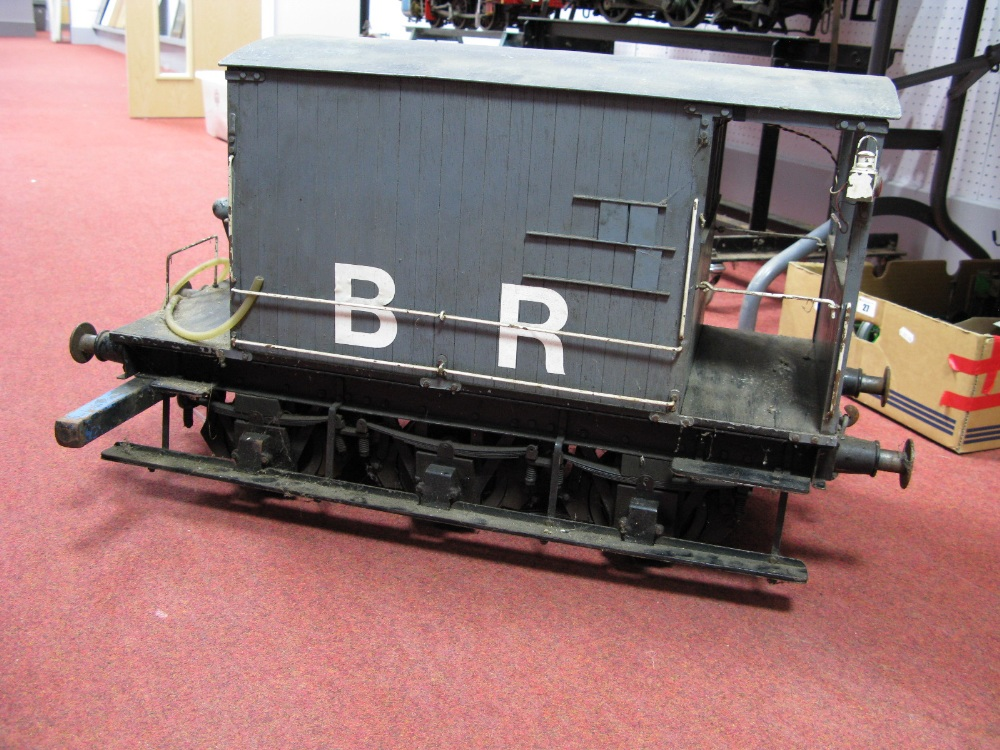 Lot 28 - A 7½ Inch Gauge Six Wheel Midland Brake Van With Hydraulic Brake Inside, finished in B.R Grey.