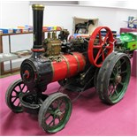A 1.5 Inch Scale Live Steam Model Of A Traction Engine, although unnamed probably based on an