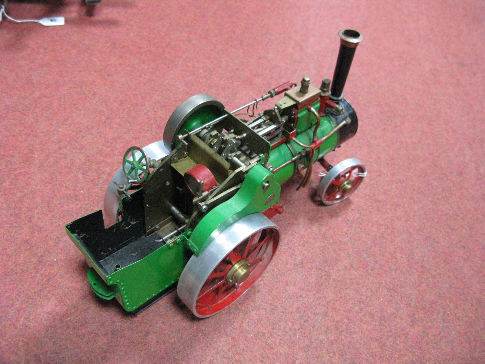 Lot 7 - A ¾ Inch Scale Model of a Traction Engine, cylinder ½ inch diameter, 1/8 inch stroke, slip eccentric