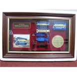 "Matchbox ""Models of Yesteryear"" Framed Cabinet displaying Model YY942, Leyland Titan TDI double"