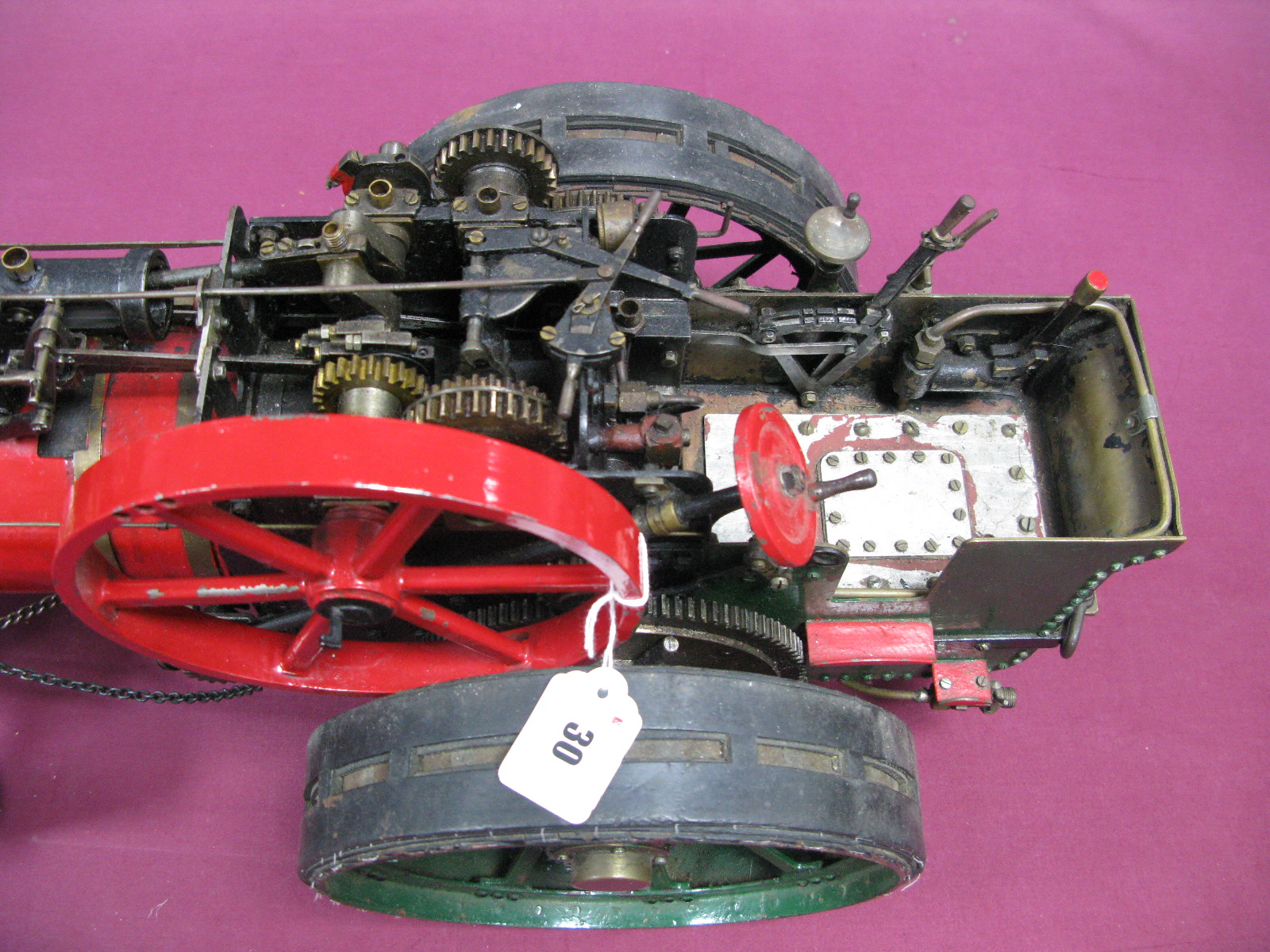 Lot 30 - A 1.5 Inch Scale Live Steam Model Of A Traction Engine, although unnamed probably based on an