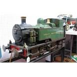 A 7¼ Inch Gauge 0-4-0 Live Steam 'Midge' Design Locomotive, based on George Gentry design of Swansea