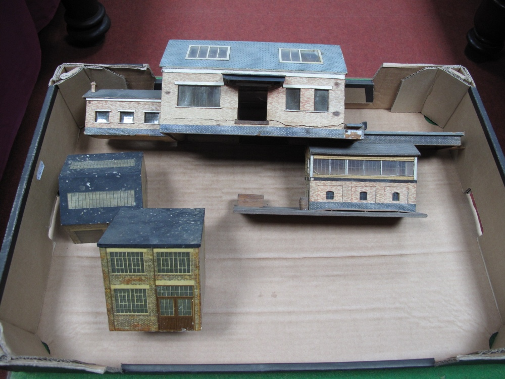 Lot 55 - Four Scratch Built Model Railway Buildings, one 7mm and three 4mm.