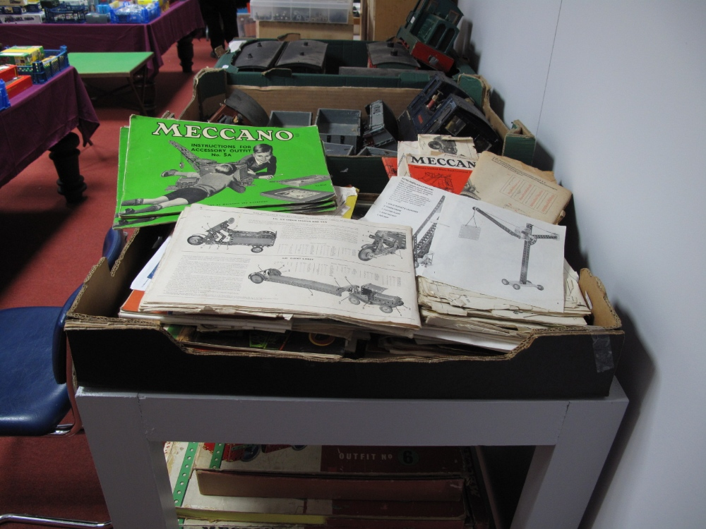 Lot 52 - A Large Quantity of Meccano Instruction Booklets, 1930's and later.