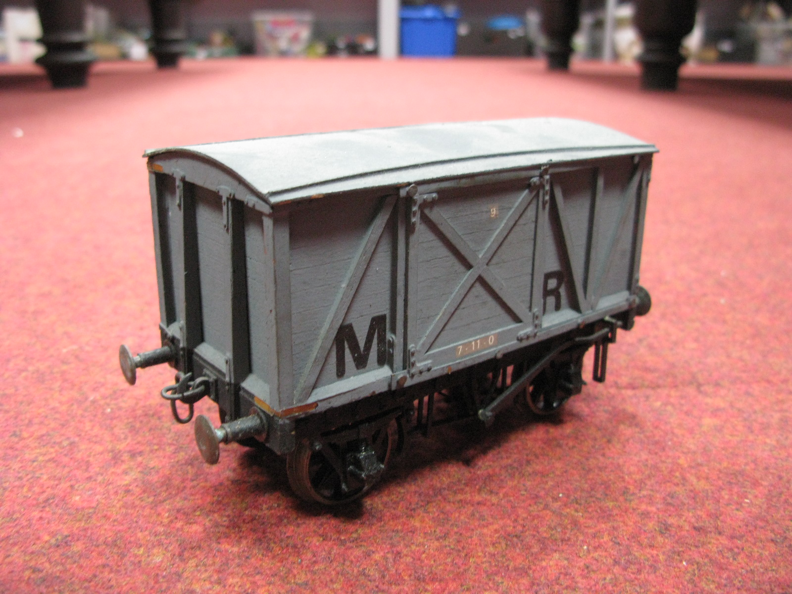 """Lot 57 - Nine Gauge 1/""""G"""" Scale Rolling Stock Wagons and Vans, including SR Container Van, Hall and Co."""