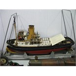A Kit Built 'Caldercraft' Imara Twin Screw berthing Tug Boat, 1/32nd scale, battery powered, twin