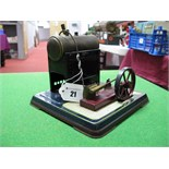 An Early XX Century Stationary Steam Engine By Bing Of Germany, single cylinder to horizontal