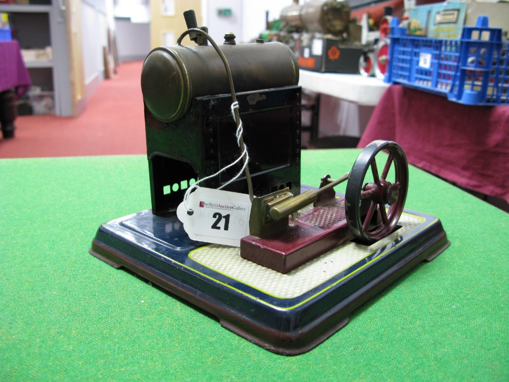 Lot 21 - An Early XX Century Stationary Steam Engine By Bing Of Germany, single cylinder to horizontal