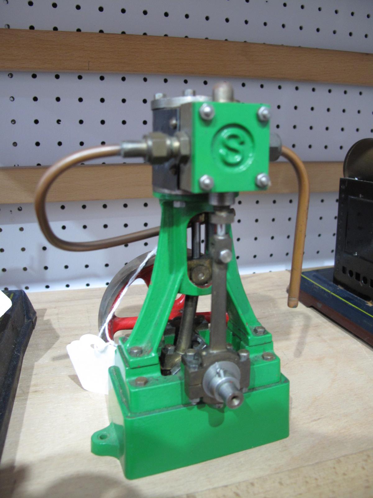 Lot 20 - A Built up Stuart 10V Vertical Steam Engine.