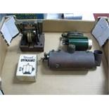 A Stuart Live Steam Marine Engine, a boxed Stuart dynamo (unused) , a small engineered vertical twin