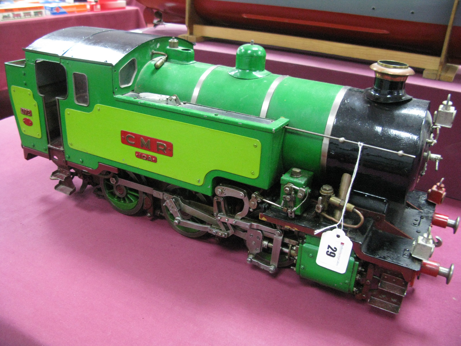 Lot 29 - A 3½ Inch Gauge Model of An 0-6-0 Tank Locomotive, built to a good standard and finished in two tone