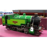 A 3½ Inch Gauge Model of An 0-6-0 Tank Locomotive, built to a good standard and finished in two tone