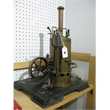 An Early XX Century Large Vertical Steam Boiler And Engine, by Marklin of Germany, single cylinder