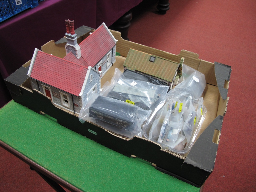 Lot 58 - Two 7mm Scale Lineside Buildings, including station buildings with left luggage office, a scratch