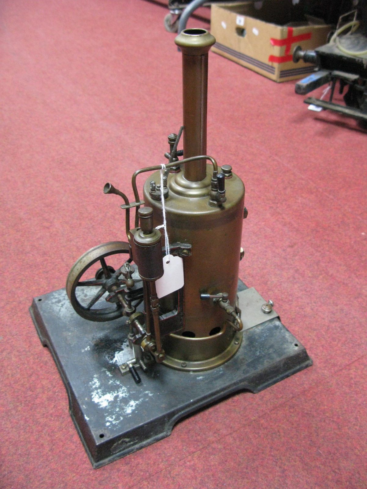 Lot 18 - An Early XX Century Large Vertical Steam Boiler And Engine, by Marklin of Germany, single cylinder