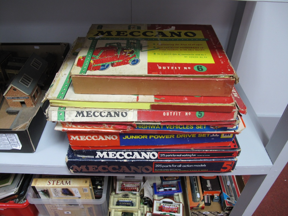 Lot 53 - A Large Quantity of 1960's - 1970's Meccano, all playworn, contained in seven various set boxes. All