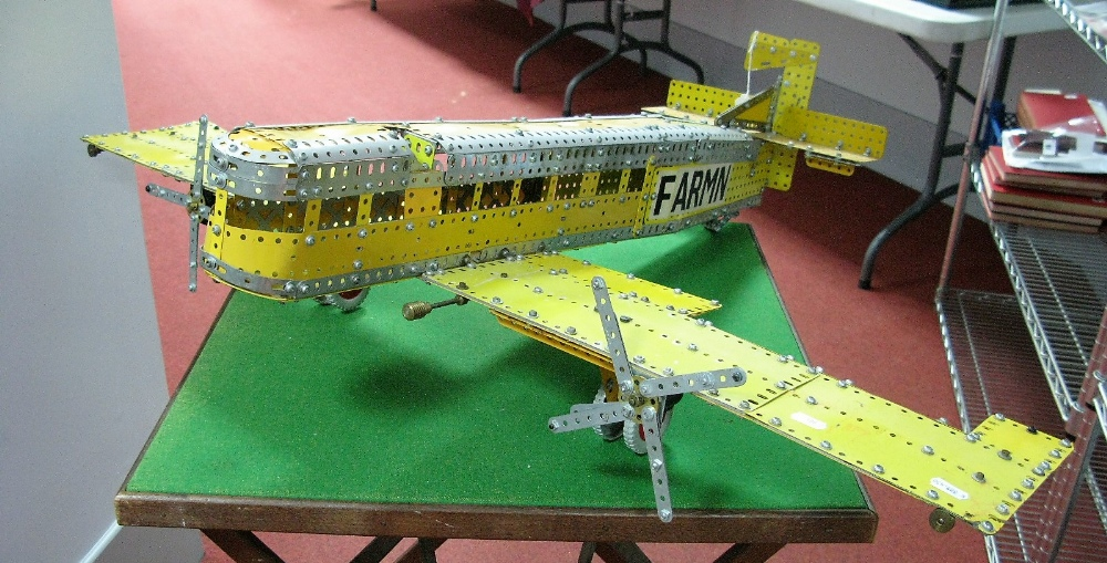Lot 2 - A Large Model Aircraft Constructed With 1970's Meccano, call sign F-Armin.