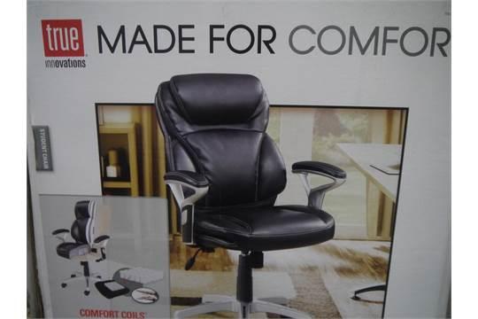 true innovations black leather chair unique picture true