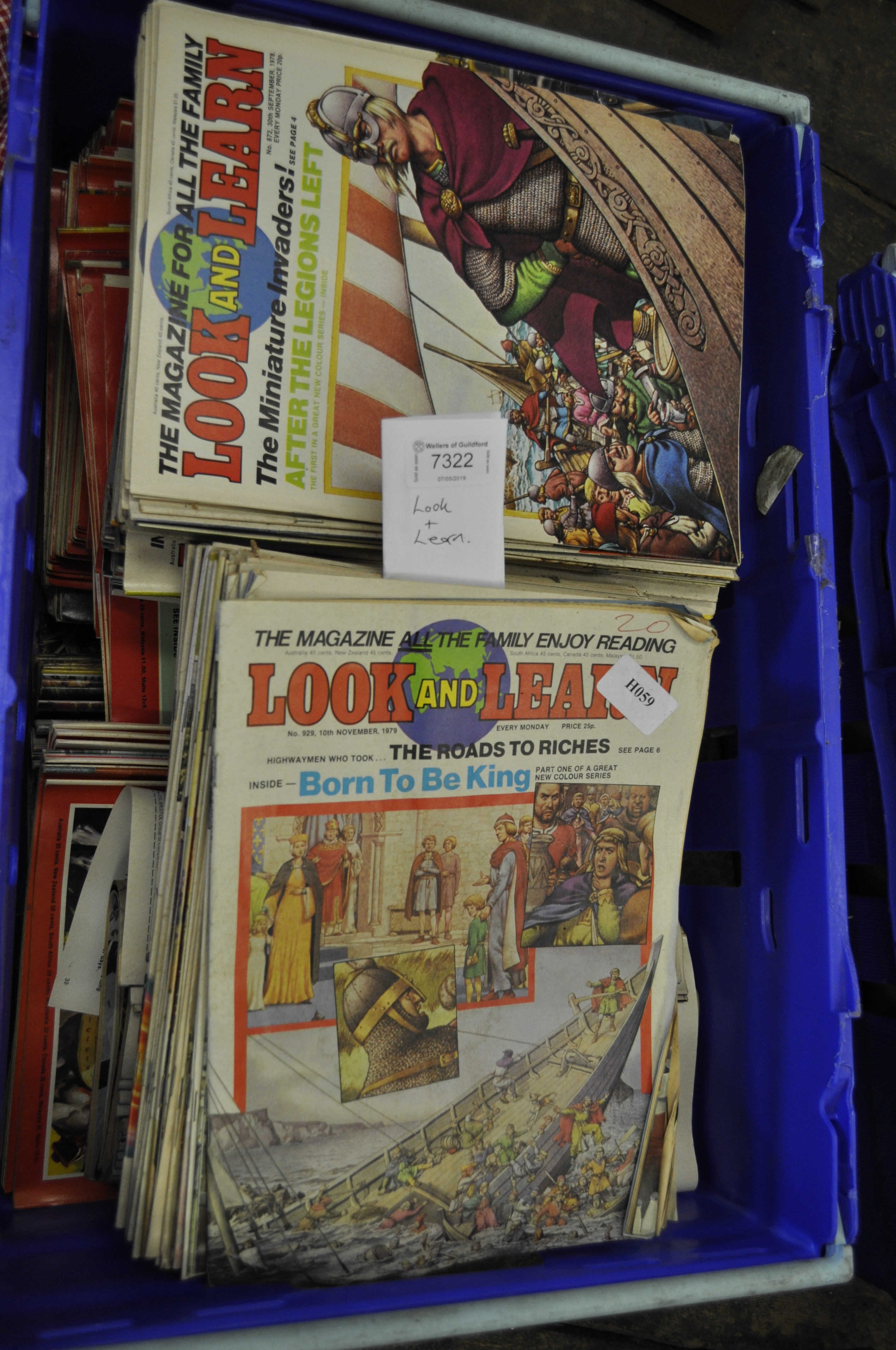 Lot 7322 - A very large collection of Look and Learn magazines from the 1970's