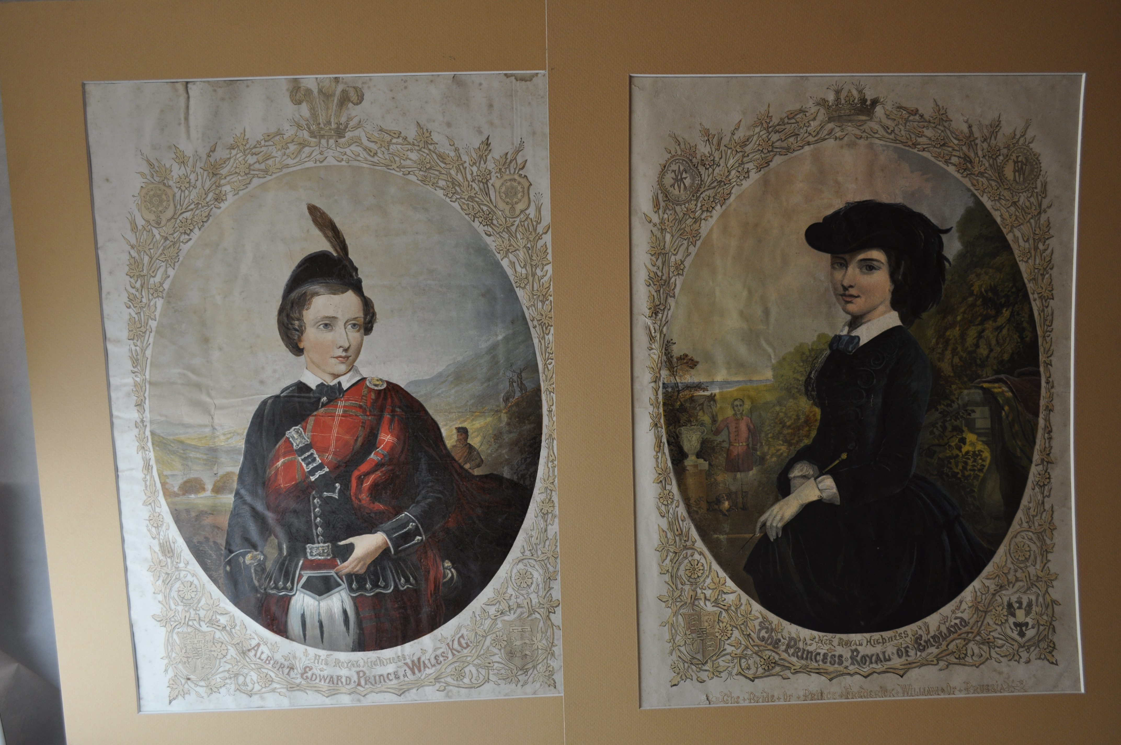 Lot 7309 - A pair of portrait prints of HRH Albert Edward, Prince of Wales, and HRH The Princess Royal of
