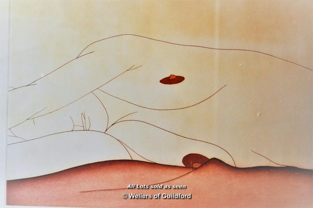 """Lot 7300 - Derrick Greaves, british artist b. 1927, coloured lithograph entitled """"Nude Female"""", limited edition"""