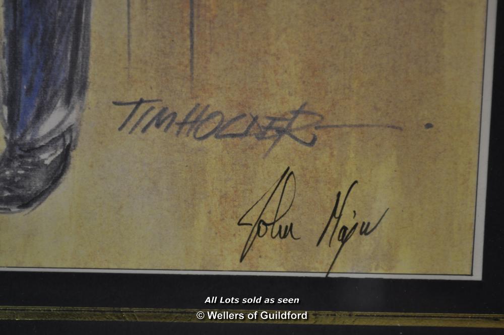 Lot 7282 - British Politics - John Major, a signed print of a limited edition artwork by Tim Holder, signed
