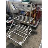 Stainless Steel Mobile Stand, approx. 1m x 0.8m x 1.3m high, lift out charge - £10