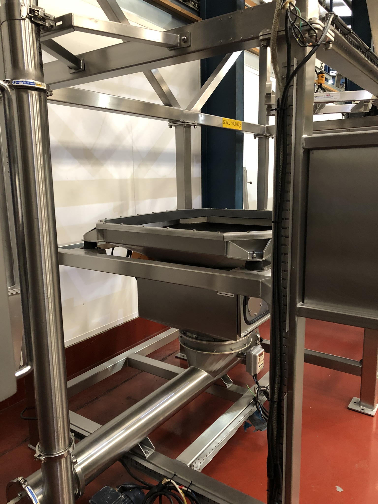 Guttridge 1000KG BULK BAG UNLOADING SYSTEM, with Star Liftket electric chain hoist, lift out - Image 6 of 8