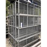Four Mobile Six Tier Racks, approx. 2.1m x 0.6m x 1.5m high, lift out charge - £40