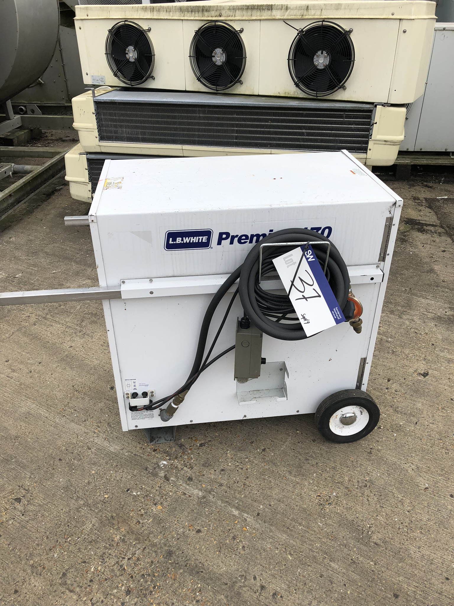 LB White Premier 170 TS Mobile Heater, lift out charge - £20 - Image 2 of 3