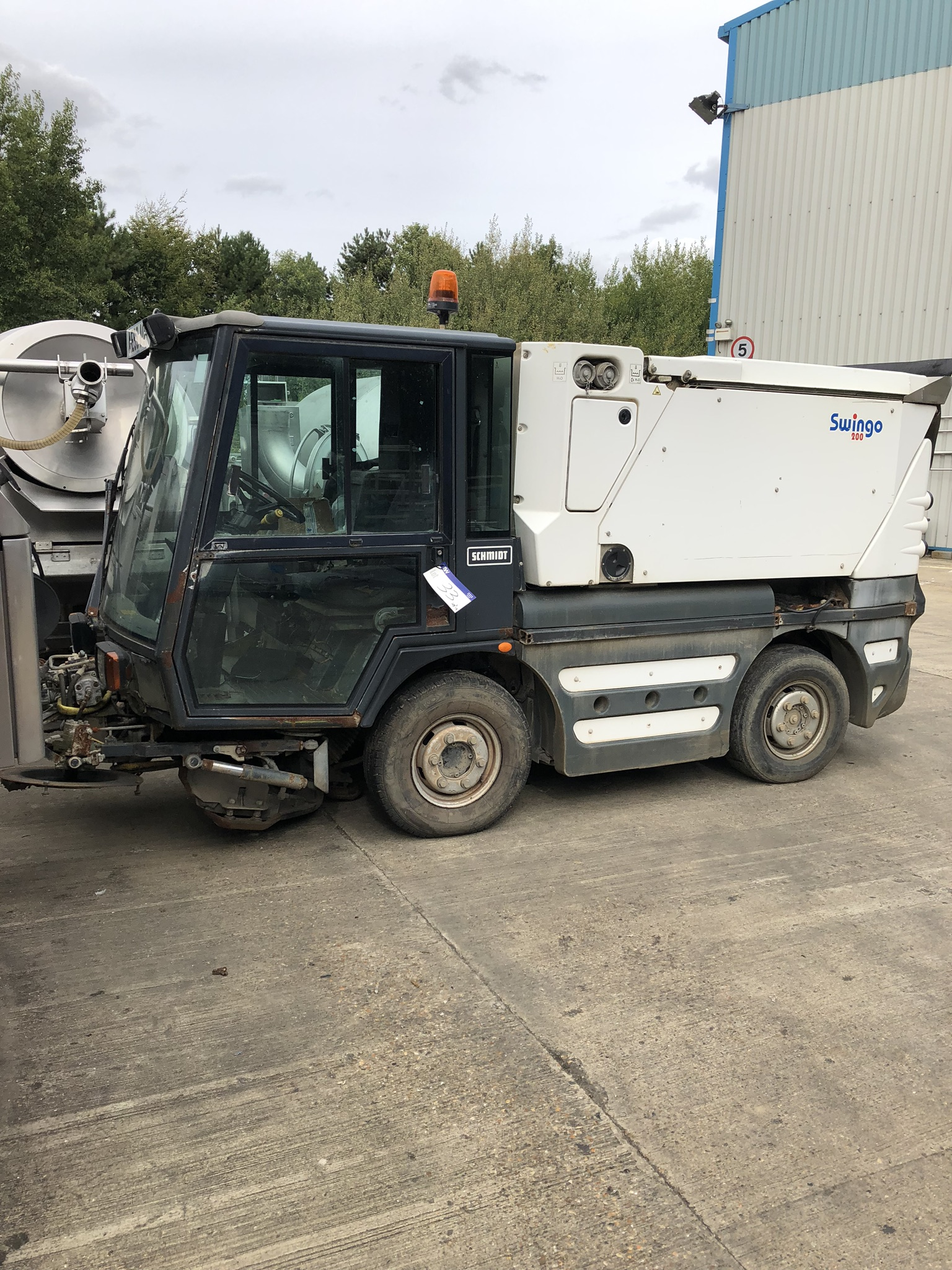 Schmidt Swingo 200 Road Sweeper, registration no. AE59 AOV (understood to require attention - non-