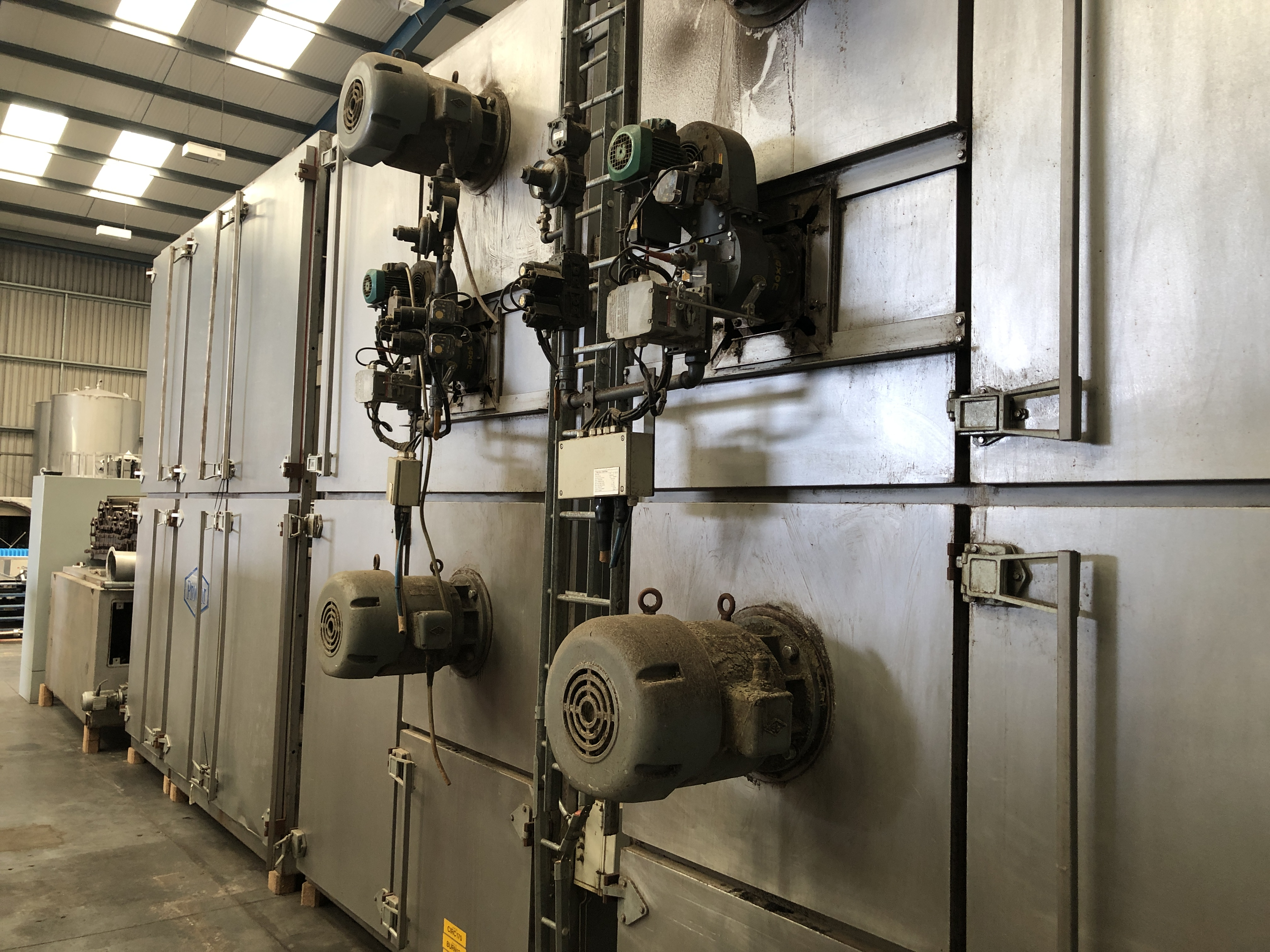 Proctor FIVE PASS GAS FIRED DRYER (dismantled by Blackrow Engineering), approx. 15m long x 5m wide x - Image 5 of 7