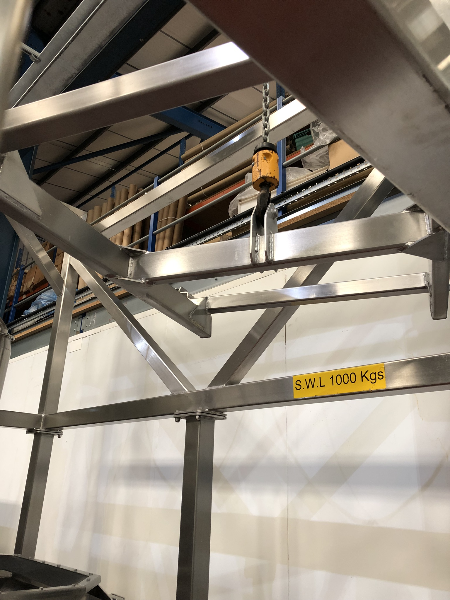 Guttridge 1000KG BULK BAG UNLOADING SYSTEM, with Star Liftket electric chain hoist, lift out - Image 8 of 8