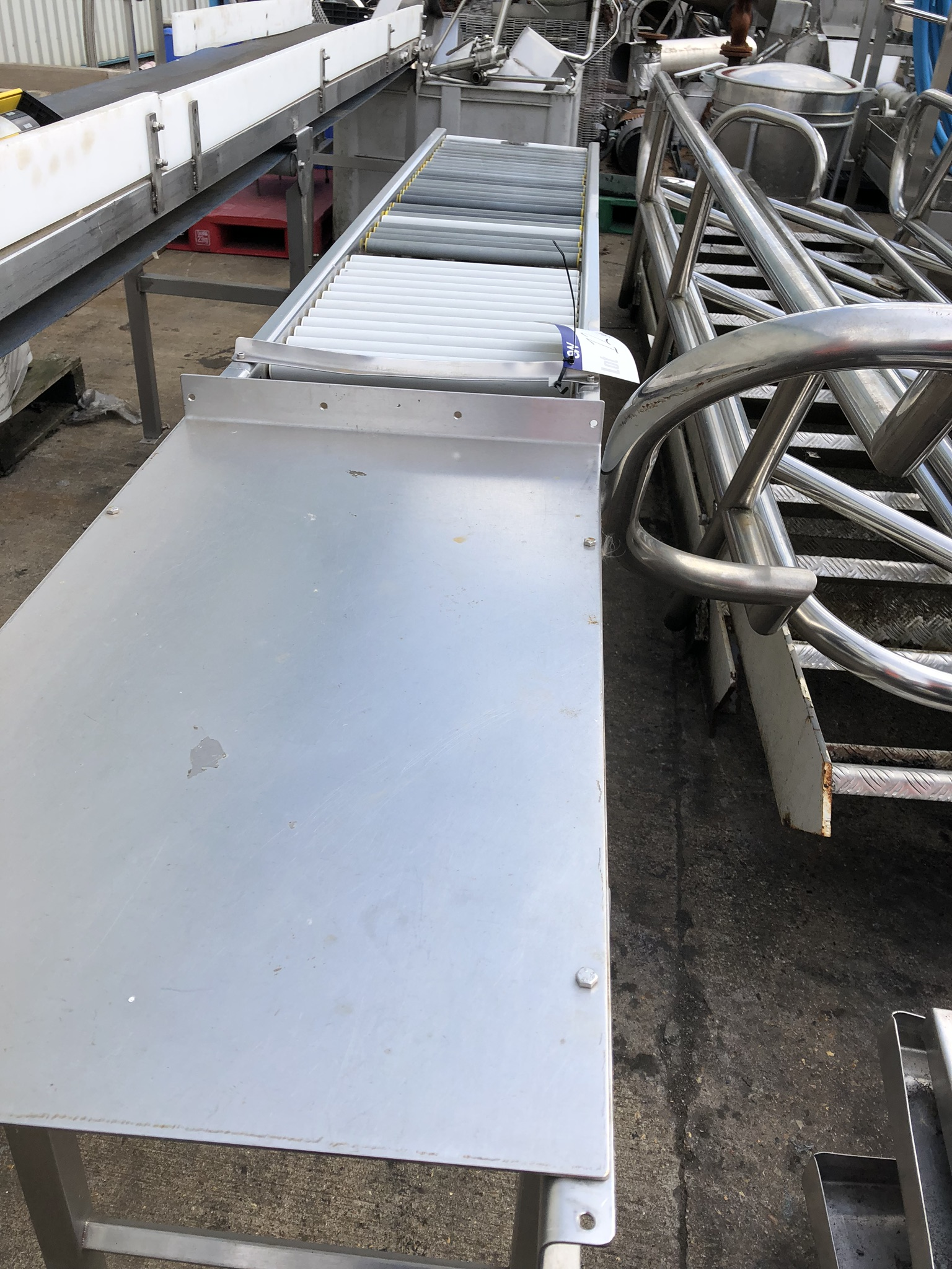Roller Conveyor, approx. 3m x 450mm wide x 800mm high, with Stand, lift out charge - £30 - Image 2 of 2
