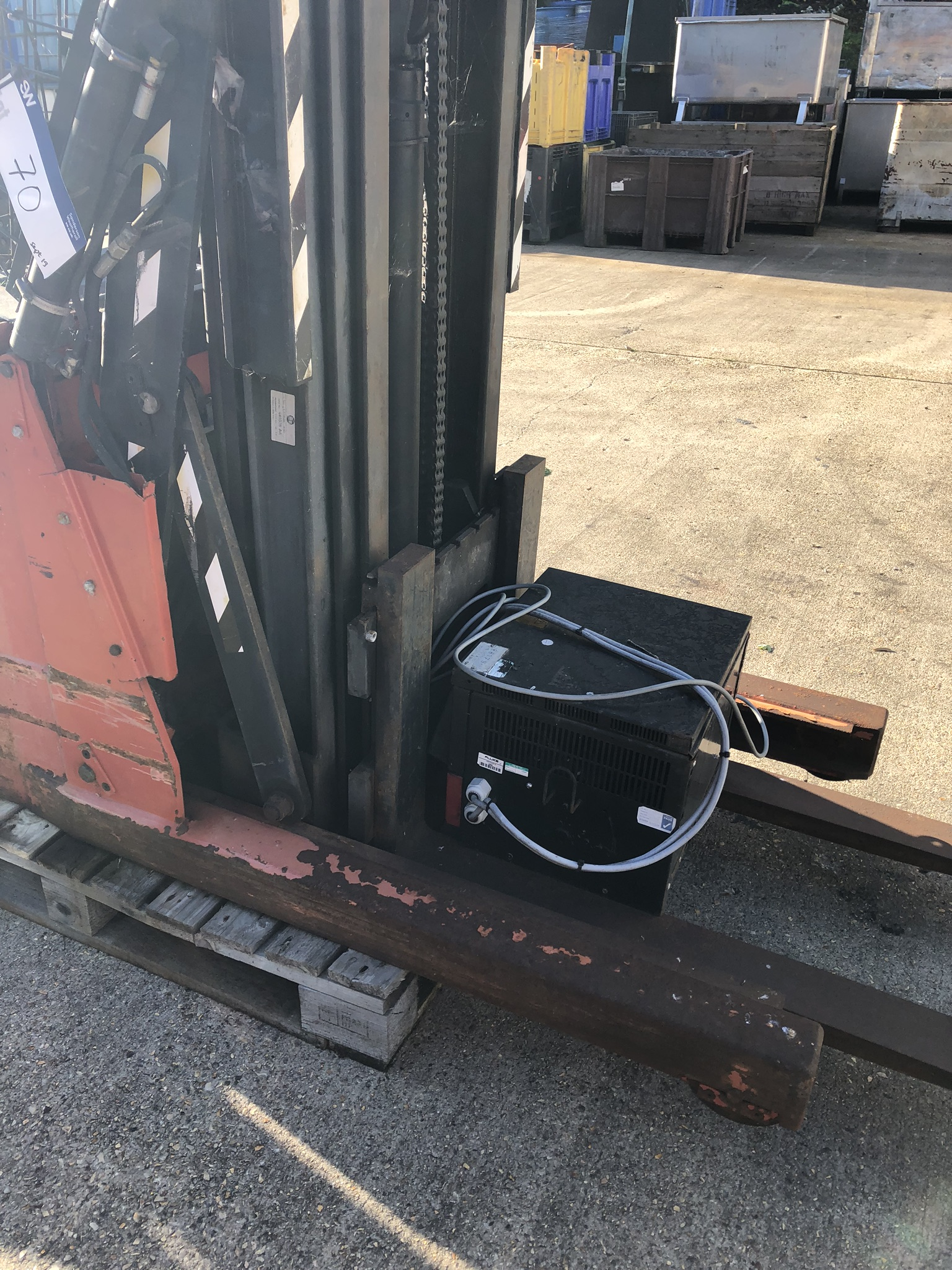 Lot 70 - BT LSR 1200/2 1200kg Reach Truck, serial no. 440961AA, year of manufacture 2002, lift out