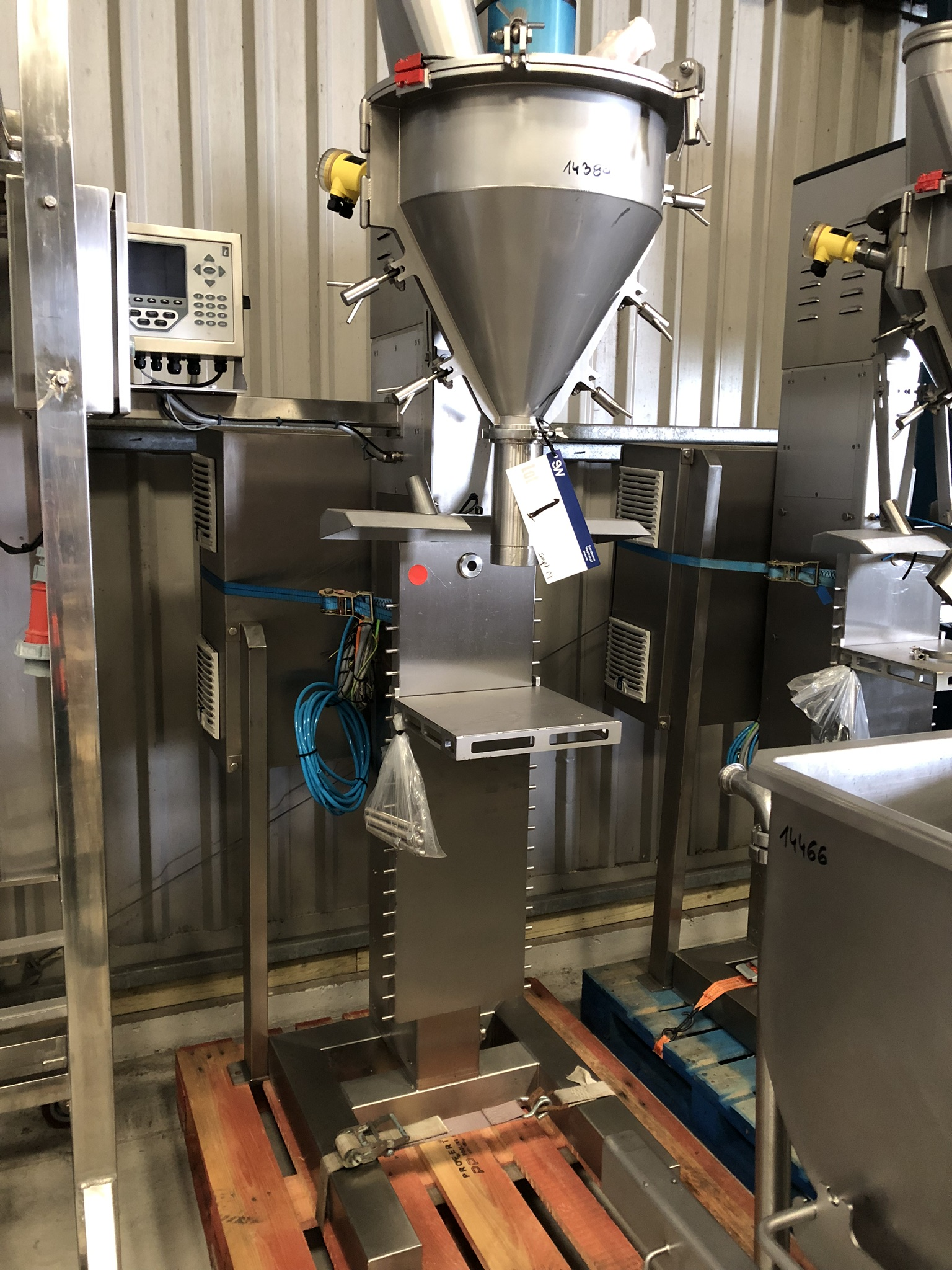 Applied Weighing POWDER FILLER, serial no. 141004, year of manufacture 2014, approx. 2.2m high x