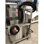CFM 3307 AXXX INDUSTRIAL VACUUM CLEANER, serial no. 00AE915, approx. 1.5m high x 1.2m x 0.6m, lift