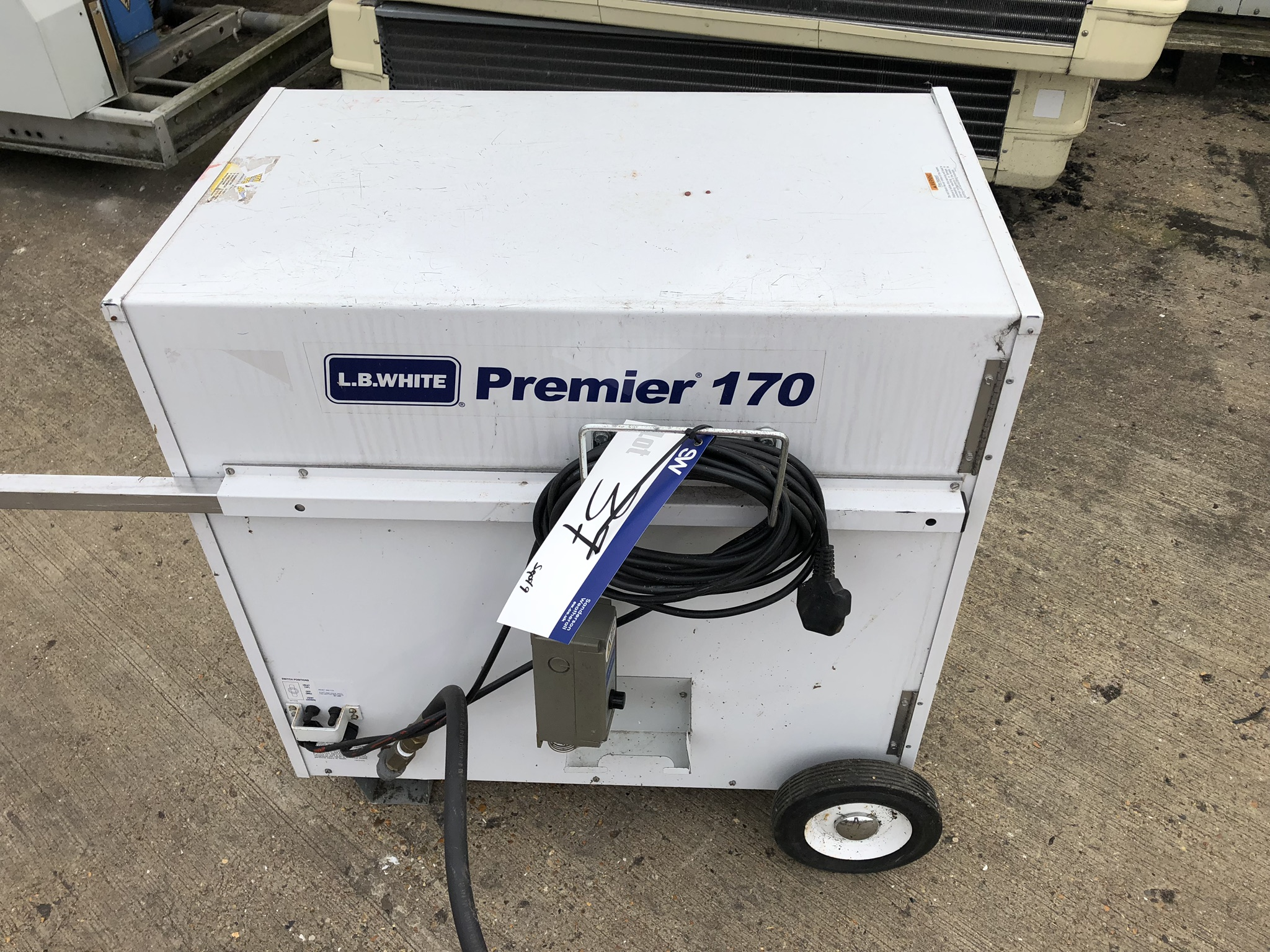 LB White Premier 170 TS Mobile Heater, lift out charge - £20