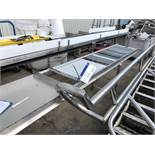 Roller Conveyor, approx. 3m x 450mm wide x 800mm high, with Stand, lift out charge - £30