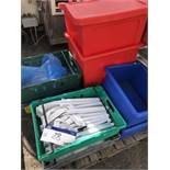 Quantity of Trays (containing plastic knife holders, matting and chainmail glove), lift out charge -