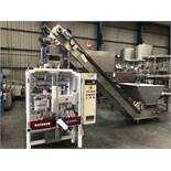 Hayssen Ultima 40E FORM, FILL AND SEAL BAGGING LINE, with four filling tubes, 50mm, 90mm, 130mm, and