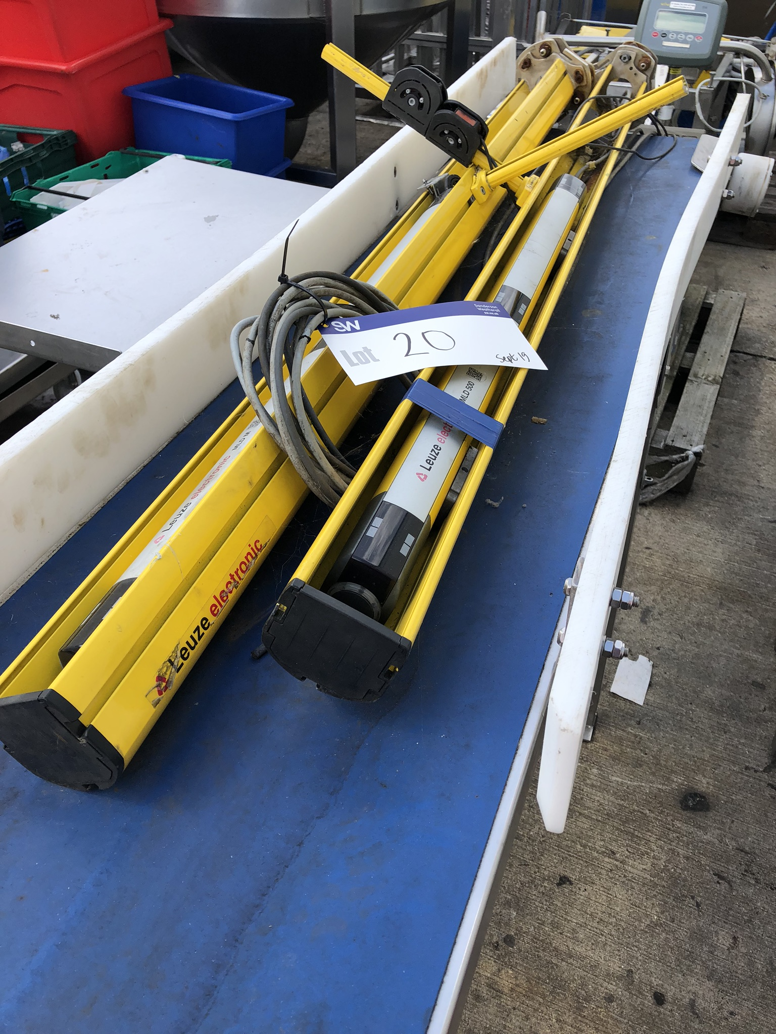 Two Leuze Electronic MLD 500 Safety Guards, lift out charge - £20