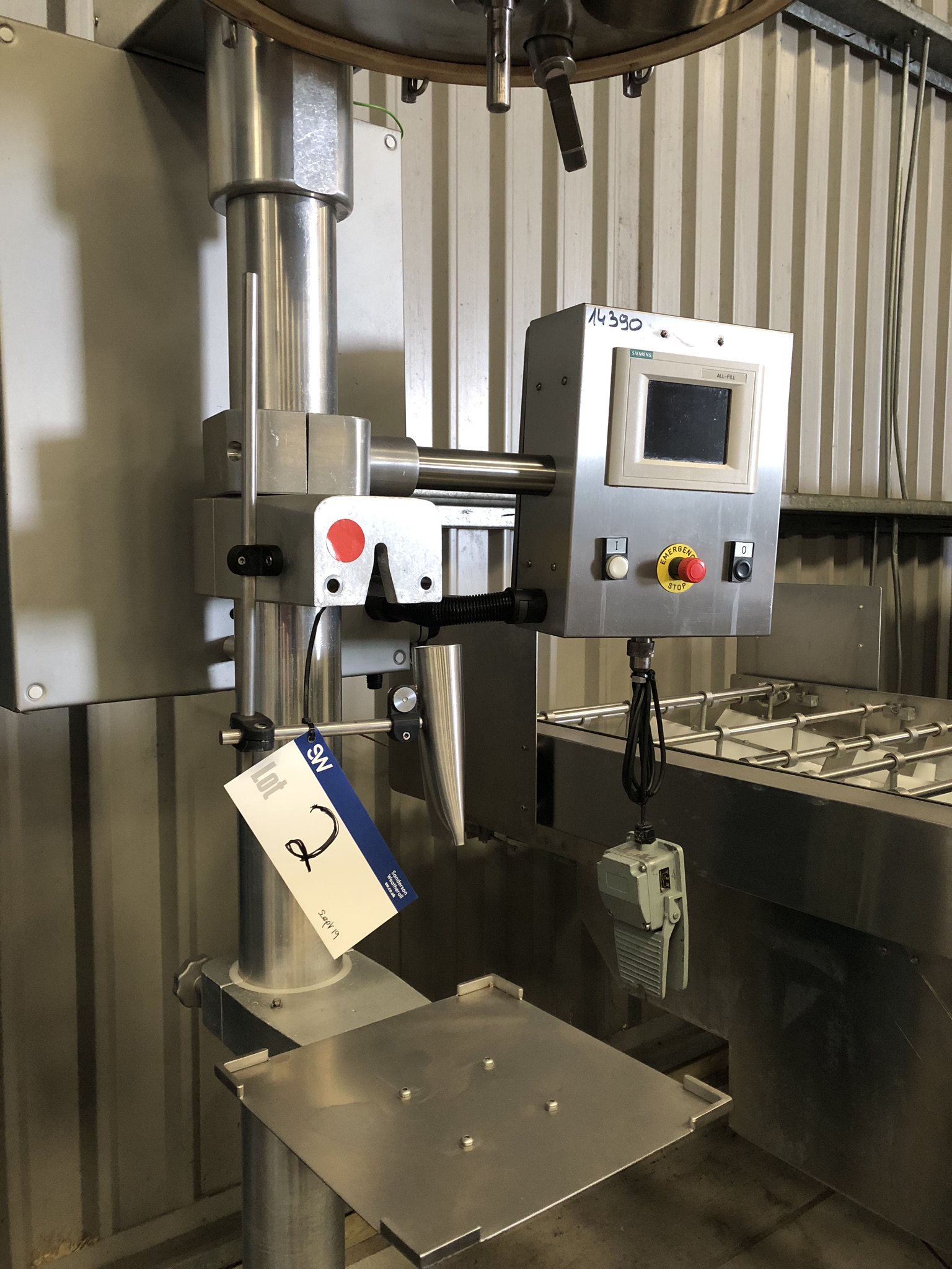 AllFill POWDER DEPOSITOR, with Siemens control panel, approx. 2.6m high x 1m x 1m, lift out charge - - Image 2 of 4